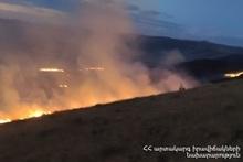 Grassland burnt on the border of Zarinja, Dzithankov and Sarakap villages