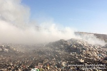Fire in Nubarashen landfill