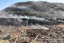 Пожар, вспыхнувший на Нубарашенской свалке, потушен