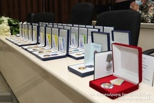 Solemn ceremony of awarding medals