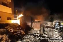 Fire on Paruyr Sevak street
