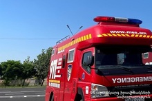 Fire broken out in Yeghegnadzor town was extinguished