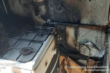 Fire in one of the houses in Dilijan town