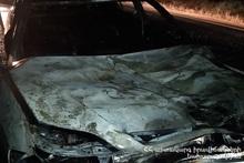Car burnt on Dilijan-Ijevan roadway