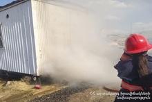 Пожар в нежилом вагон-доме