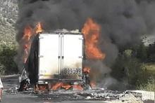 Пожар в грузовом автомобиле