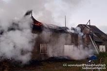 Пожар, вспыхнувший в селе Навур, потушен
