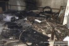 Сгорела крыша дома