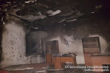 Fire at school of Nalbandyan village was extinguished