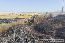 Пожар в городе Абовян: на месте осуществляется дежурство