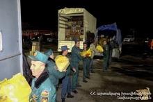 МЧС продолжает распределение гуманитарной помощи