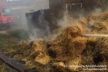 Fire in Gandzak village: about 150 bales of hay burnt