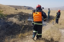 Firefighters extinguished fires broken out in the area of about 8.5 ha in total