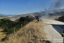 Firefighters extinguished fires broken out in the area of about 6․5 հa in total