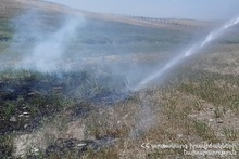 Firefighters extinguished fires broken out in the area of about 1 հa in total