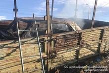 Сгорел салон автомобиля