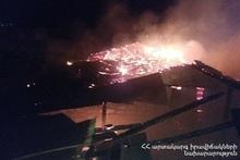 Пожар, вспыхнувший в селе Кахси, потушен