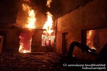 Пожар в городе Раздан