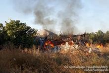 Пожар в селе Дарбник