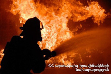 About 300 bales of hay burnt in Chambarak town