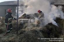 Сгорело около 600 тюков накопленного сена