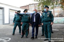 A.Piloyan got acquainted with the possibilities of Crisis Management State Academy and Rescue Forces Department