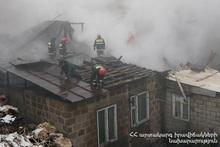 Fire in Minas Avetisyan street