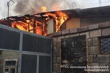 Fire in Gyumri town