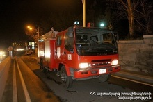 Fire in Vanadzor town