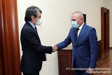 ES Minister Andranik Piloyan and UNDP Resident Representative Dmitry Mariyasin discussed further cooperation programs