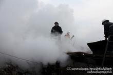 Пожар в селе Арцванист: пострадавших нет