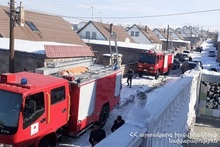 Пожар в селе Лернакерт
