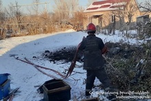 Пожар в селе Вардакар