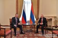 Андраник Пилоян поздравил своего  русского коллегу