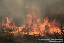 Fire in Vanadzor town
