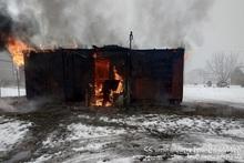 Trailer-house burnt