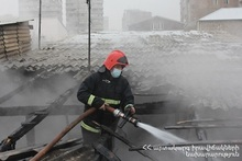 Fire on Rustamyan street