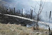 Fire in Privolnoye village