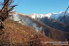 В селе Гугарк сгорел травяной покров