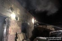 Пожар в селе Дзоракап Ширакского региона