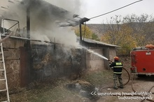 Пожар в хлеву: пострадавших нет