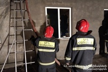 Fire in Goravan village