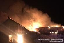 Пожар в городе Дилижан
