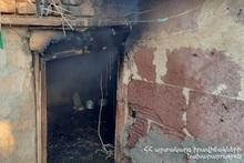 Пожар в селе Ерасхаван