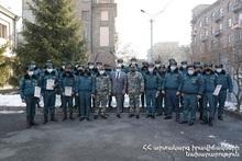 Поощрительное мероприятие в Спасательном управлении города Ереван