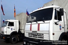 Ministry of Emergency Situations of Russian Federation sent 6 trucks of humanitarian aid to Artsakh
