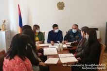 Штабное учение в муниципалитете Аршалуйса