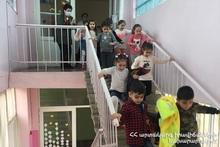 В детском саду N 130 Еревана было проведено учение