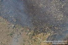 Сгорело около 17 га травяного покрова