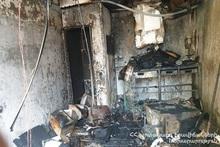 Garage burnt